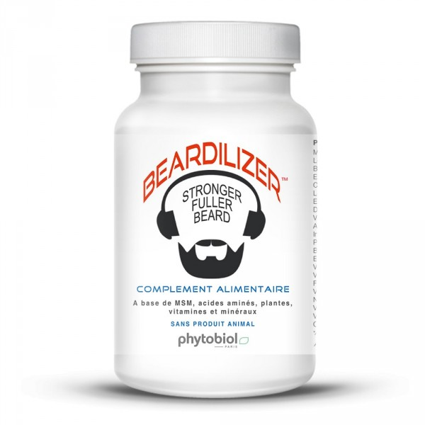 Beardilizer - Packa 2 flaskor med 90 kapslar - Skäggväxt Sammansättning