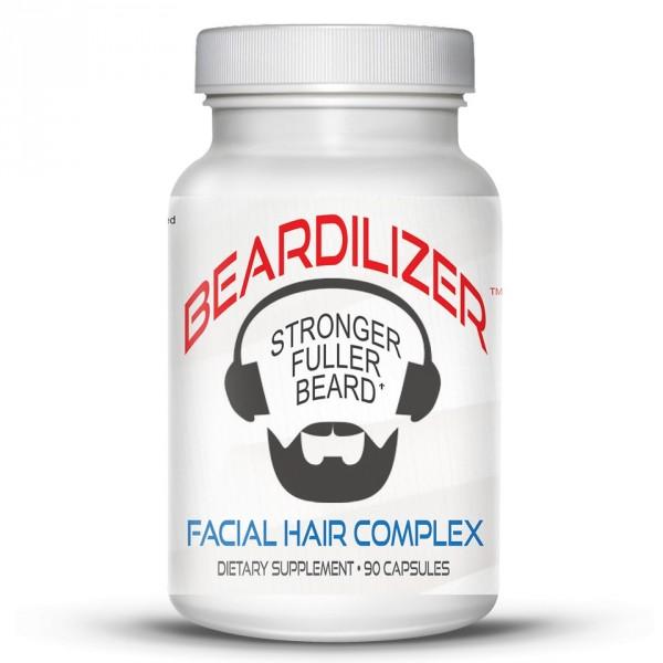 Beardilizer - Pakke 2 Flasker 90 Kapsler - Ansiktshår- og Skjeggvekstkompleks