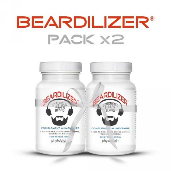 Beardilizer - Pack 2 Flasker af 90 Kapsler - Ansigtshår og Skægvækst kompleks