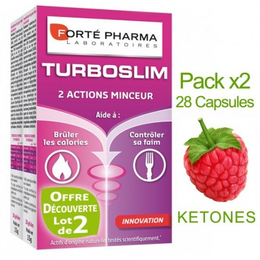 Forté Pharma - Turboslim - 2 Actions minceurs - Lot 2 boites de 28 Gélules