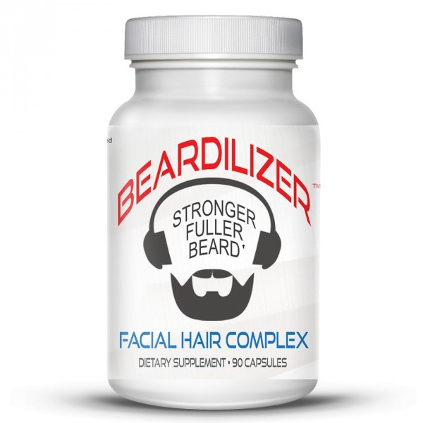 Beardilizer - 4 Bottle Pack of 90 Capsules - Facial Hair and Beard Growth Complex for Men