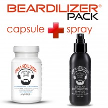 Beardilizer Capsules and Spray Pack