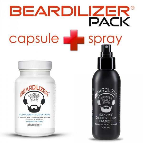 Pack Beardilizer Kapseln und Spray