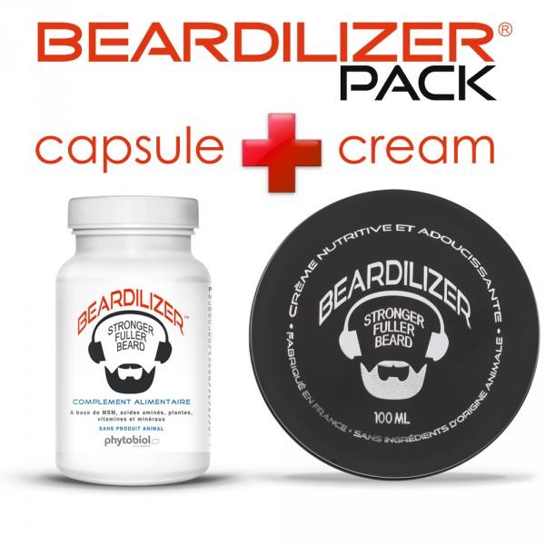 Pack Beardilizer Capsules et Crème