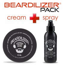 Beardilizer Spray and Cream Pack