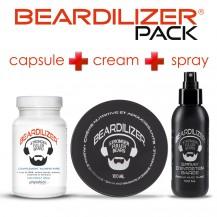 Pack Beardilizer Capsules, Spray et Crème