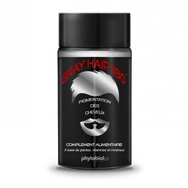GrayHair 180 - Anti Cheveux Blancs - 60 Capsules