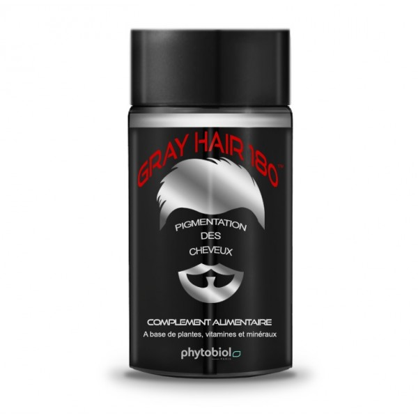 GrayHair 180 - Anti White Hair - 60 Capsules