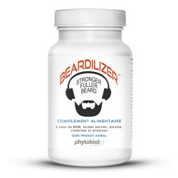 Beardilizer - Ansiktshår- og Skjeggvekstkompleks for Menn - 90 Kapsler
