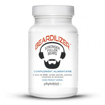 Beardilizer - Facial Hair and Beard Growth Complex for Men - 90 Capsules