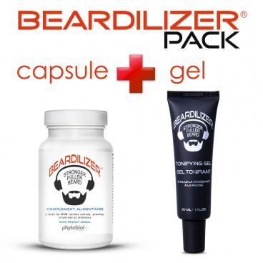 Beardilizer Capsules and Tonifying Gel Pack