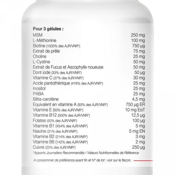 Beardilizer - Packa 3 flaskor med 90 kapslar - Skäggväxt Sammansättning