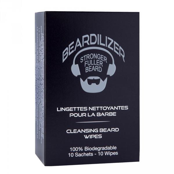 Udrensning Pack til Skæg Gel og Renseservietter Beardilizer
