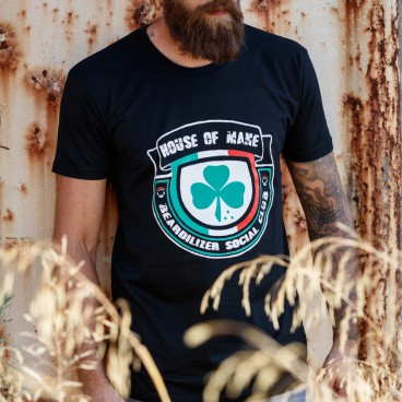 T-Shirt - Beardilizer House Of Mane - Svart