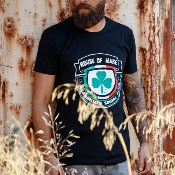 T-Shirt - Beardilizer House Of Mane - Sort