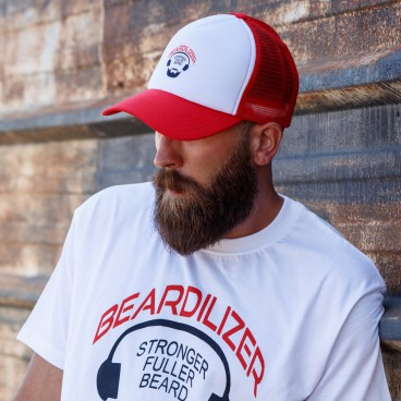 Casquette Trucker - Beardilizer - Rouge