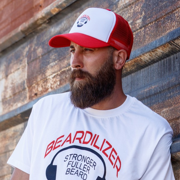Cap - Beardilizer Trucker - Rød