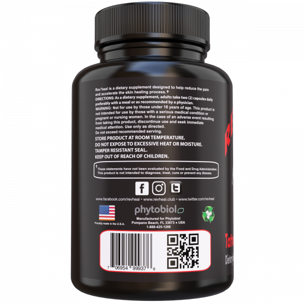 Rev'Heal - Antidouleur et Cicatrisation Tatouage - 60 capsules